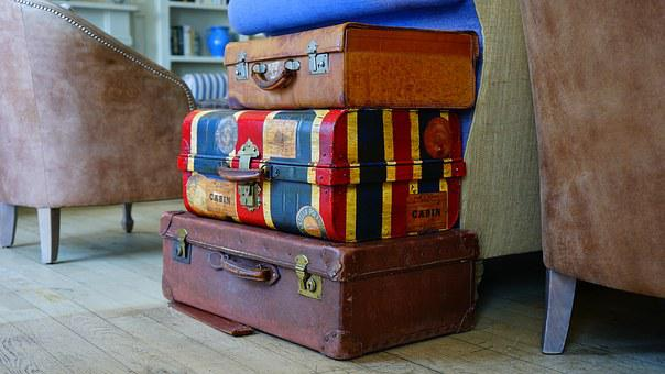 Luggage Bags Suitcase Baggage Brown Case T