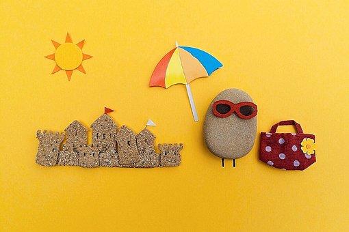 Beach Summer Rock Art Craft Scene Summer B