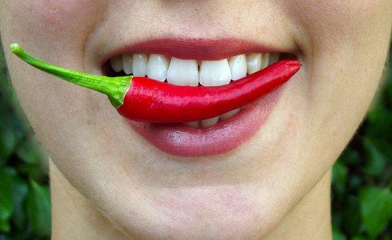 Chilli, Bite, Hot, Lips, Mouth, Eat
