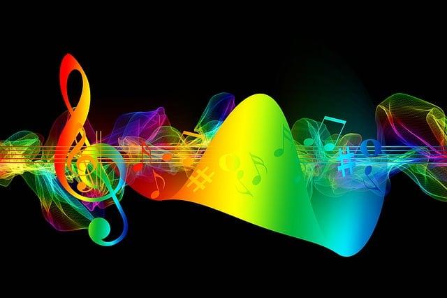 Fiery Treble Clef In Rainbow Flames: Notenschlüssel Noten Liebe · Kostenloses Bild Auf Pixabay