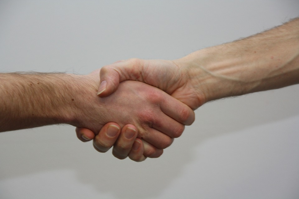 Hände, Geben, Schütteln