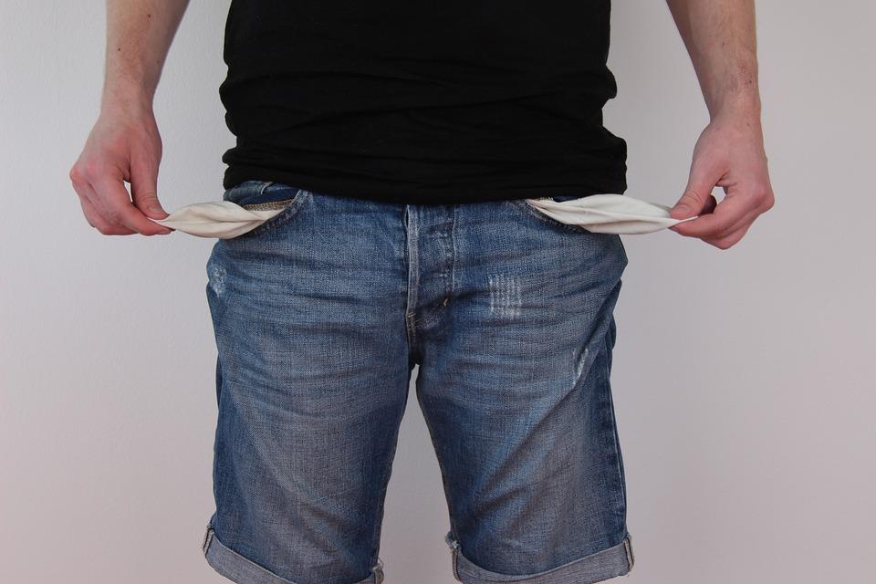 Hosentaschen, Leer, Jeans, Kein Geld, Armut