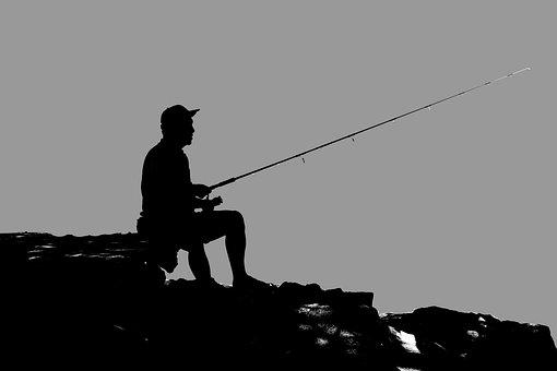 Fischer, Mann, Fischerei, Wasser, Sport