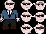 bodyguard, henchman, cartoon