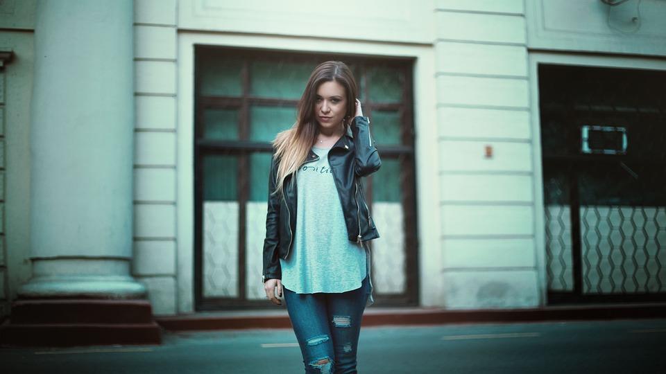 Mädchen In Lederjacke Schöne Haar Kostenloses Foto auf Pixabay