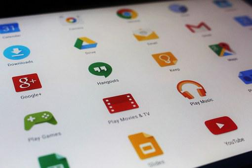 Tablet Screen Apps Android Technology Comp