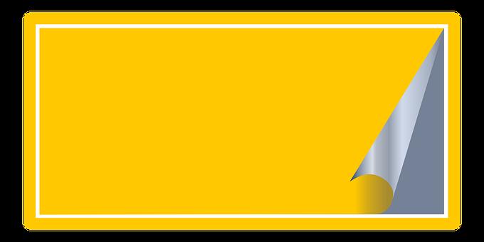 autocollant jaune images gratuites sur pixabay. Black Bedroom Furniture Sets. Home Design Ideas