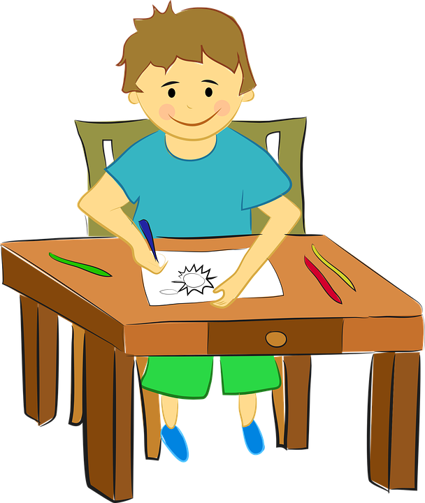 Boy Child Children · Free vector graphic on Pixabay Child Reading At Desk Clipart