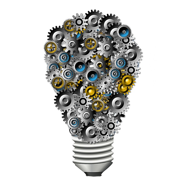 Engrenages, Ampoule, Innovation, Technologie, Idée