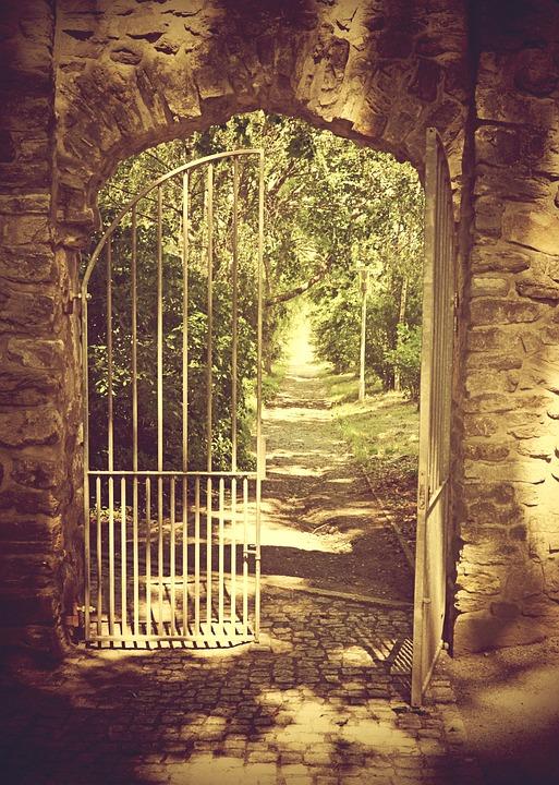 Eisentor Mauer Alt Offenes · Kostenloses Foto auf Pixabay