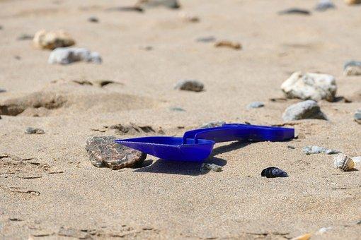 Beach, Spade, Sand, Fun, Summer, Bucket