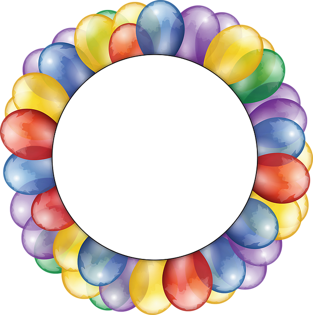 Free Vector Graphic Balloons Circle Frame Copy Space