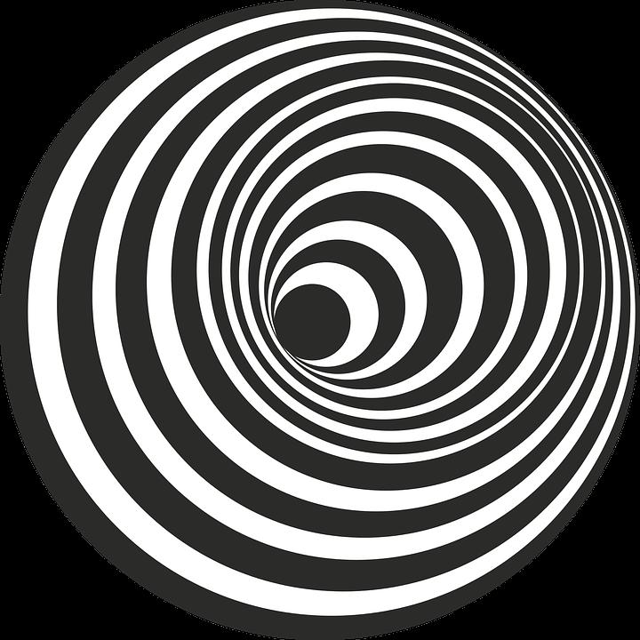 Hole hill black white 3d