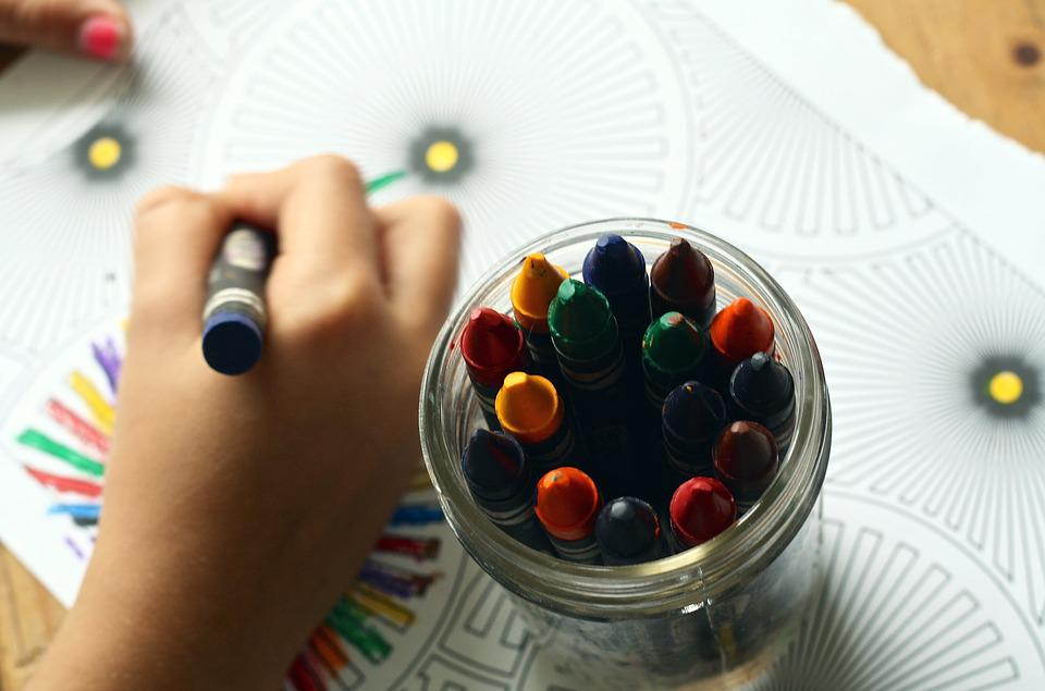 Crayons Coloring Book Color Children