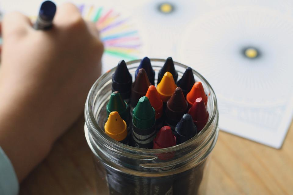 Crayons, Coloring Book, Coloring, Book, Color, Children