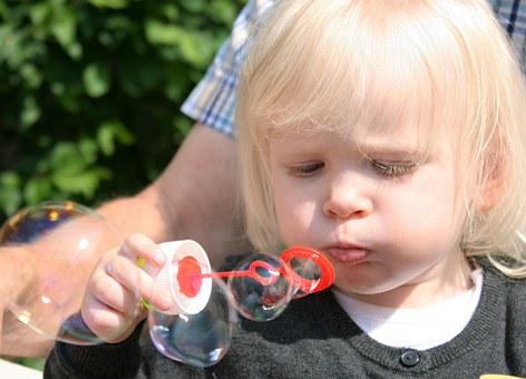 Child, Soap Bubbles, Fun, Face, Funny