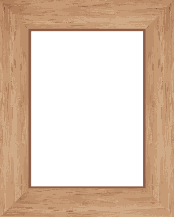 frame picture wood brown tan picture frame - Wood Frame