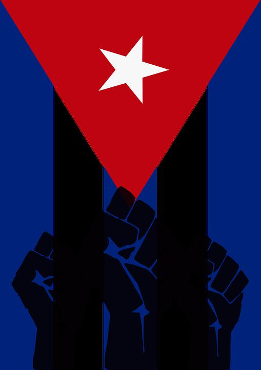 Elegant Cuba Revolution Fist Cuban Flag
