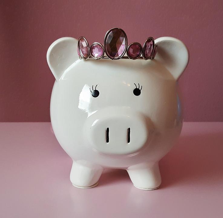 貯金箱, 豚, ピンク, 貯蓄, 保存, お金, コイン, 現金, ドル, 銀行, おこづかい, ファイナンス