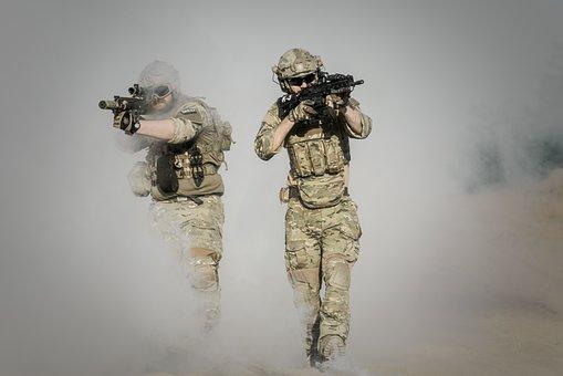 War, Desert, Guns, Gunshow, Soldier