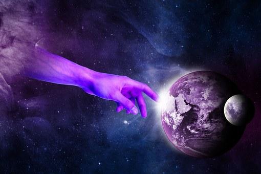 Surréaliste, Main, Planète, Le Ciel