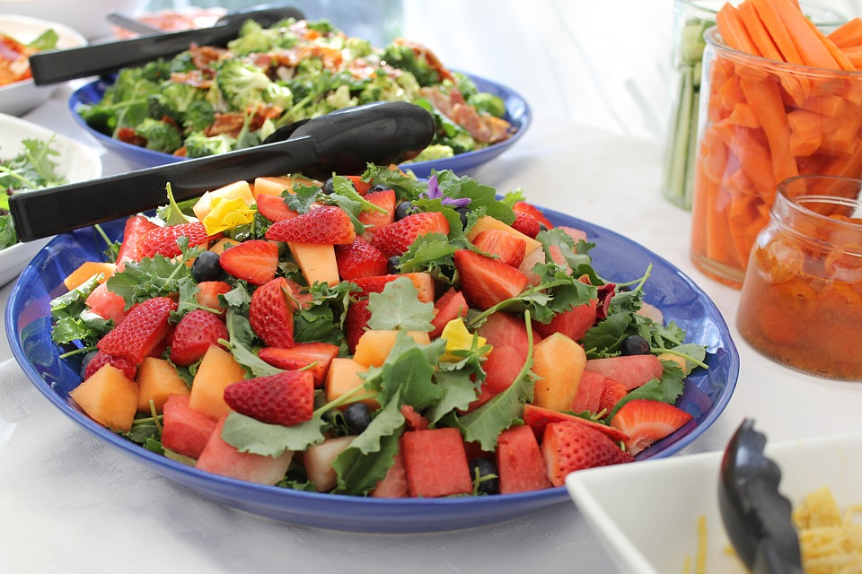 Food, Mixed, Fruits, Plate, Catering, Celebration