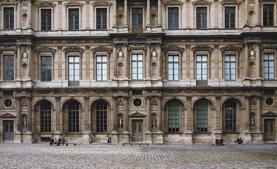 Paris louvre france facade architecture mu
