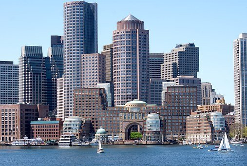 Boston, Water, Front, City, Architecture