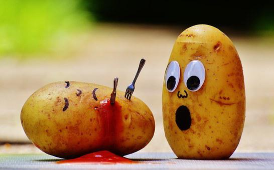 Potatoes, Ketchup, Murder, Blood, Funny