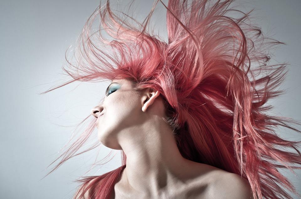 Pink Hair, Hairstyle, Women, Young, Glamour, Wild