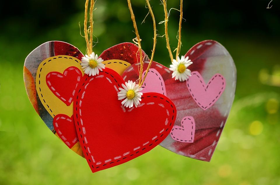 Cuore, Cavo, Sospeso, Amore, Insieme, Simbolo Di Amore