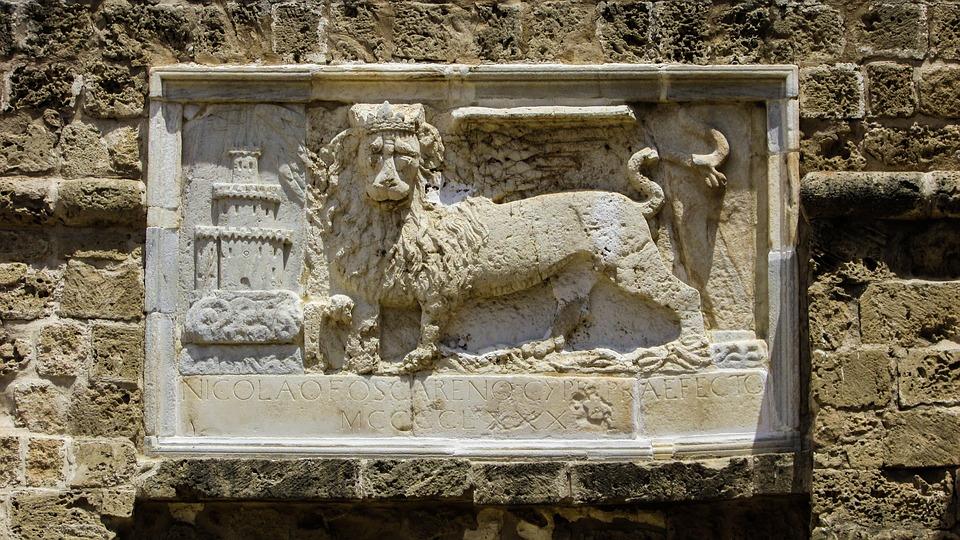 Cyprus, Famagusta, Castle, Othello Castle, Gate, Lion