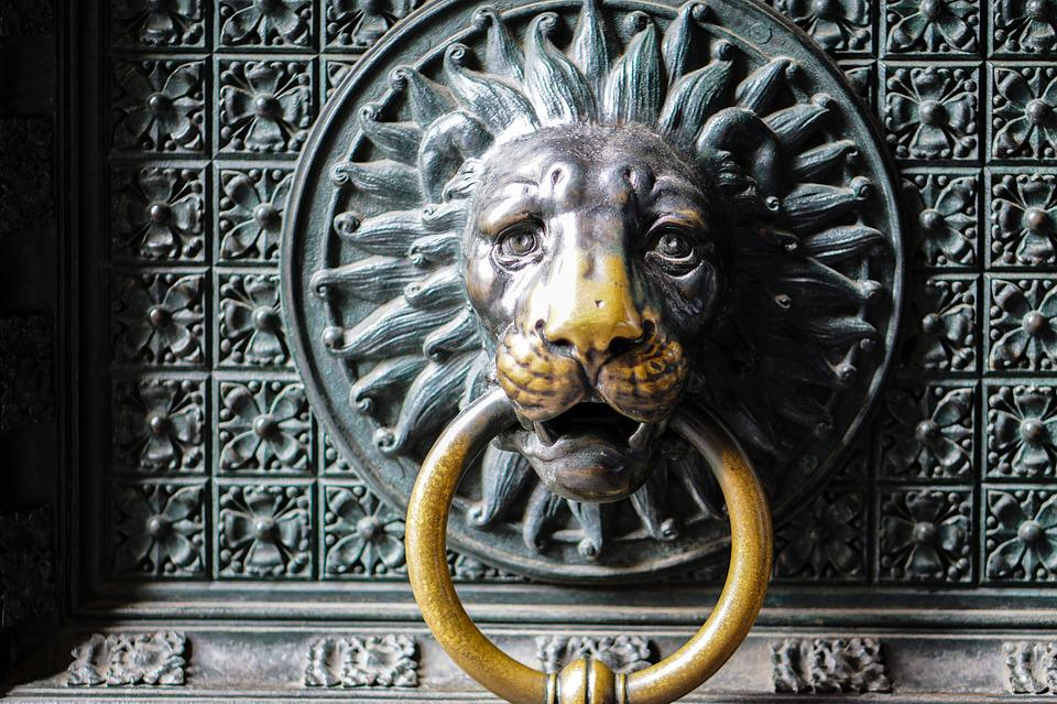 door lion head lion door knob metal input handle & Free photo: Door Lion Head Lion Door Knob - Free Image on ... Pezcame.Com