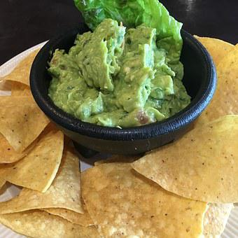 Avocado Guacamole Chips Food Green Meal Fr