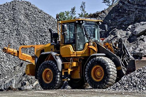 掘る人, マシン, 機械, 建設, ローダ, バケツ, 機器, 業界