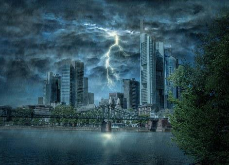 Frankfurt, Flash, Thunderstorm, Storm