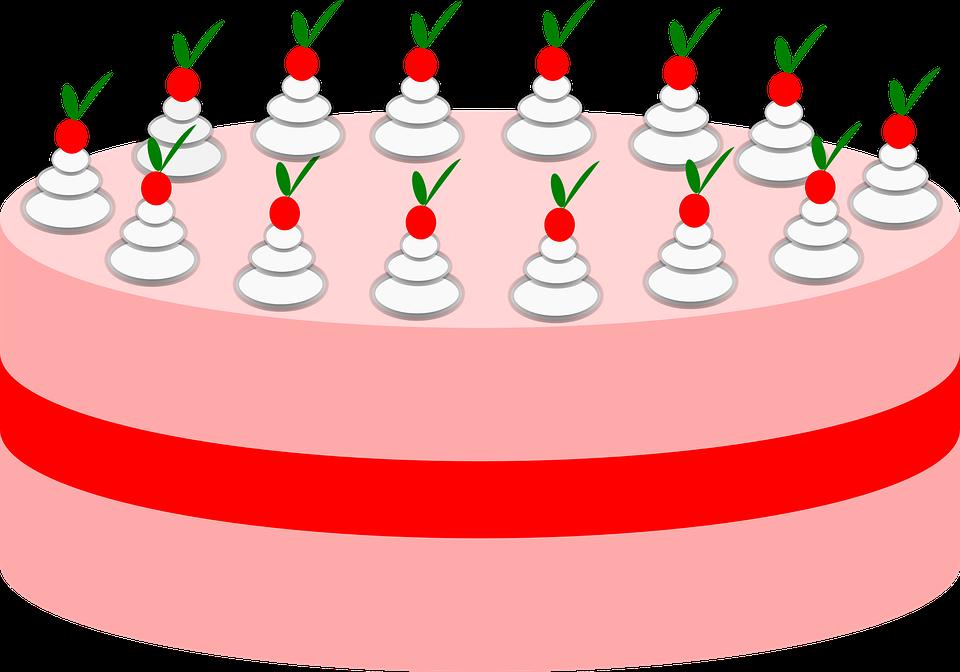Incredible Birthday Cake Free Vector Graphic On Pixabay Birthday Cards Printable Nowaargucafe Filternl