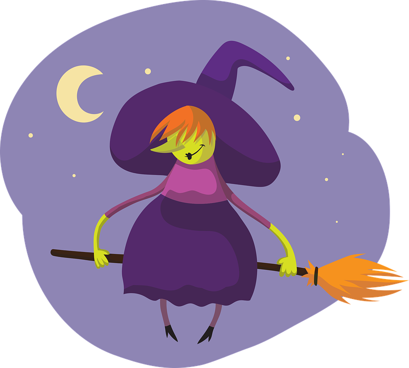 Hexe Besen Halloween Kostenlose Vektorgrafik Auf Pixabay