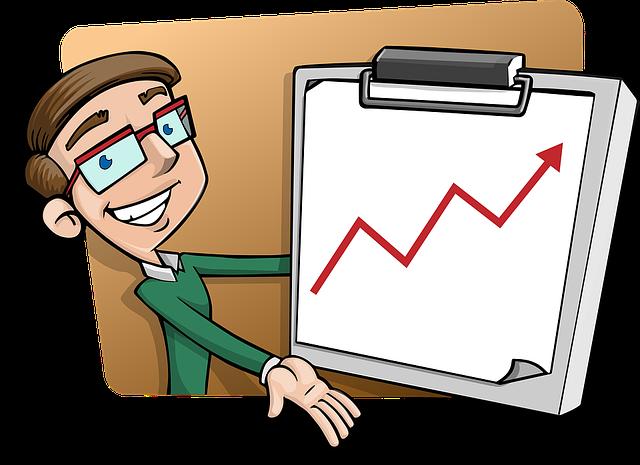 プレゼンテーション, 統計, 少年, 文字, 男, 男性, メガネ, 表示, にこやか, 進行状況, ビジネス