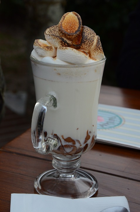 Marshmallow Coffee Milk Hot Chocolate Cup