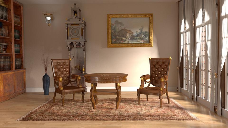 Royal Interior Room Sitting Room Library Interior