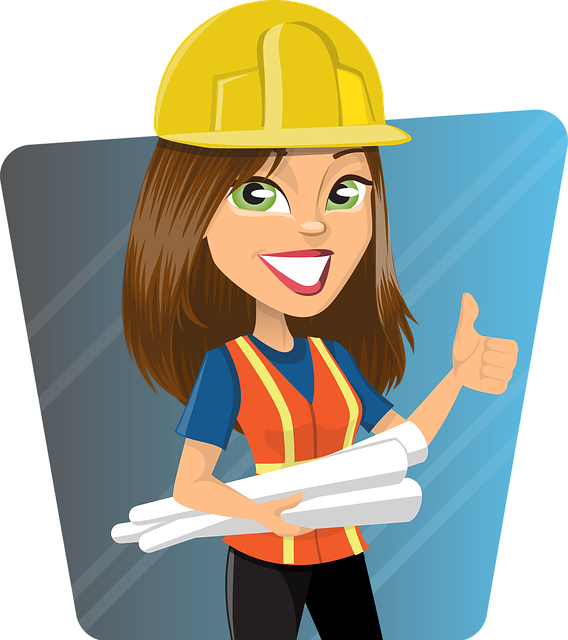 Construction Manager Cartoon : Woman engineer work · free vector graphic on pixabay