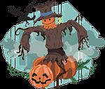 scarecrow, halloween, pumpkin