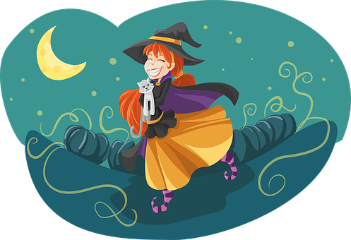Witch, Cute, Friendly, Cat, Adorable