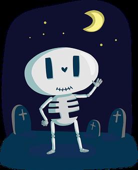 Esqueleto, Lindo, Hueso, Halloween