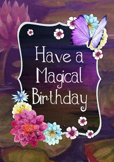Free Illustration Happy Birthday Magical Greeting