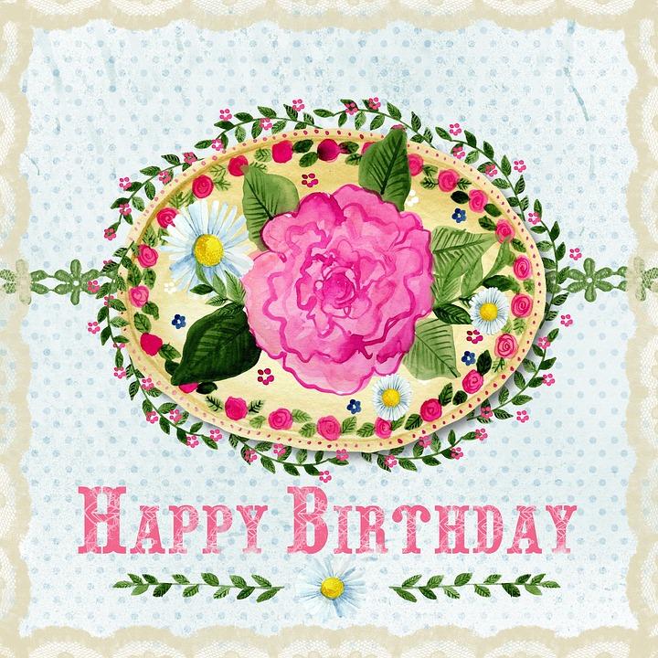 Joyeux Anniversaire Rose Floraux Image Gratuite Sur Pixabay