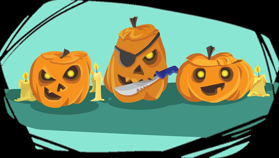 Citrouille, Halloween, Couteau, Vacance, Fête