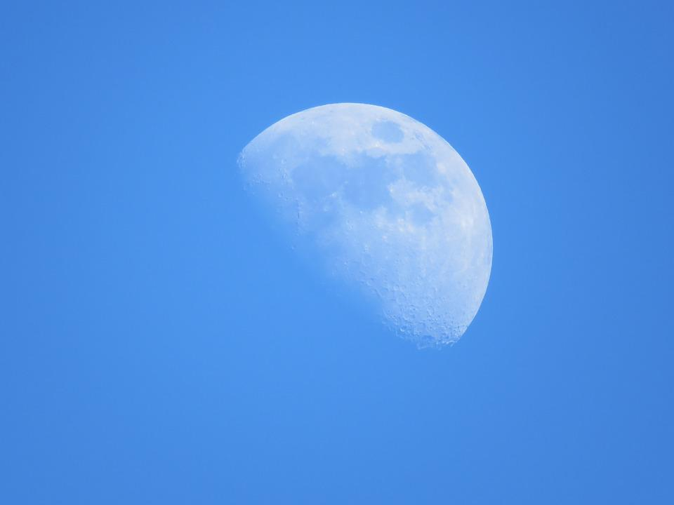 Blue Moon Daytime Free Photo On Pixabay