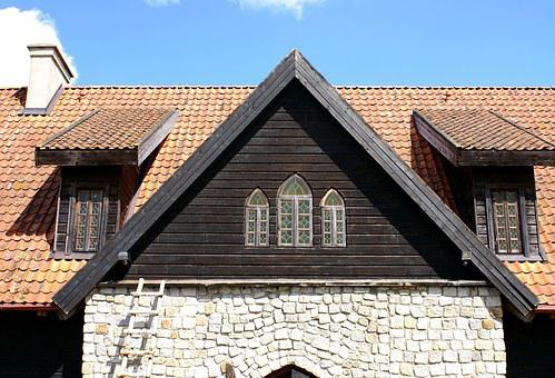 Window, Attic, Castle, The Roof Of The